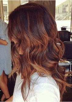 Red Caramel Hair Color Fall Hair Color Auburn Ombre Copper Balayage and Focus On Onbre Hair, New Hair, Curly Hair, Rose Hair, Cabelo Tiger Eye, Hair Color Auburn, Tiger Eye Hair Color, Dark Auburn, Hair Trends