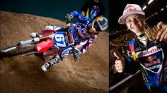 Ashley Fiolek- Women's motorcross champion. Even more amazing, she's been deaf since birth.   My oldest hearing son really likes her!! ;)
