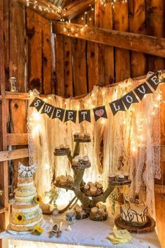 rustic barn wedding food bar decor / http://www.deerpearlflowers.com/rustic-wedding-details-and-ideas/2/