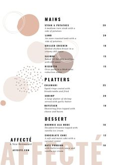 Designed to mix and match! You'll be able to start creating right away and make amazing designs like this menu.