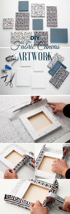 Check out the tutorial: #DIY Fabric Canvas Artwork @istandarddesign                                                                                                                                                                                 More