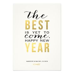 The Best is Yet to Come | New Year Photo Card Personalized Invitation, engagement party, wedding shower, reception, Christmas party, New Year's eve, anniversary, thank you card