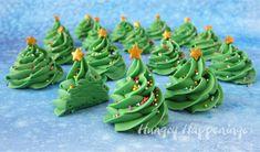 Creme de Menthe Fudge Christmas Trees Recipe