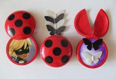 Catnoir And Ladybug, Ladybug And Cat Noir, Ladybug Crafts, Ladybug Party, Miraculous Ladybug Toys, Ladybug Jewelry, Minnie Mouse Party, Mouse Parties, Mickey Mouse