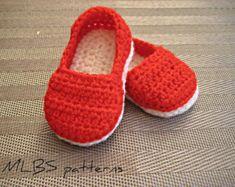 Crochet pattern baby booties crochet shoes por MyLittleBabyShoes