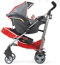 Chicco's new Liteway PLUS Stroller - the only stroller that transforms from a carseat carrier to a toddler stroller! $180
