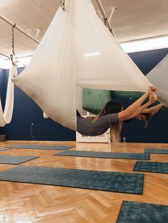 Aerial Hammock, Aerial Silks, Aerial Yoga, Fitness Exercises, Yoga Fitness, Health Fitness, Yoga Poses, Flexibility, Healing