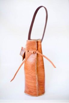 Essential Leather Wine Tote    Perfect Gifts for Dad   Unique Ideas for Father's   Gifts that Give back   Fair Trade   Ethical Fashion   Handmade in Haiti