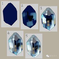 【知】各色宝石手绘技法