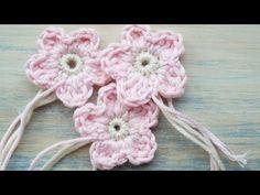 ▶ (Crochet) How To - Crochet a Simple Flower v1 - YouTube