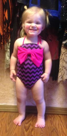 Infant & Toddler Chevron & Leopard Swimsuit