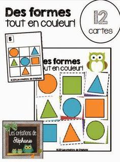 Les créations de Stéphanie: Des formes tout en couleur! 1st Grade Math, Grade 1, Ms Gs, Activities For Kids, Kindergarten, Preschool, Teacher, Education, Cycle 1