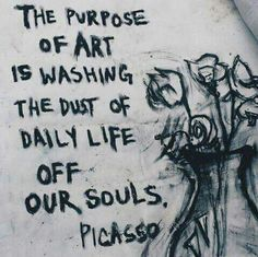 art, picasso, and purpose image art art graffiti art quotes Art Quotes Artists, Schrift Design, Grafiti, Boxing Quotes, Daily Inspiration Quotes, Quote Art, Graffiti Art, Graffiti Quotes, Beautiful Words