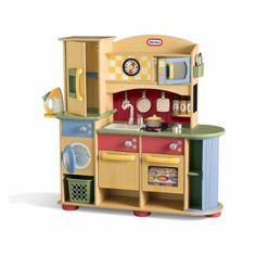 Little Tikes Kitchen Set-Kids Wooden Kitchen & Laundry Center