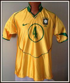 BRASIL BRAZIL #4 DAVID LUIZ CBF NIKE JERSEY ADULT MEDIUM/LARGE FREE SHIPPING #Nike #BRAZIL