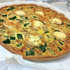 Quiche de calabacines, jamón y queso < Divina Cocina