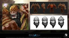 #ConceptArt for Rockfist, a deadly Guardian that uses his brutal force to deal damage to his enemies. Download the #iOSBeta update today! ow.ly/ZFWE0 #gamedev
