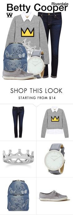 """""""Riverdale"""" by wearwhatyouwatch ❤ liked on Polyvore featuring AG Adriano Goldschmied, Alice + Olivia, BillyTheTree, Larsson & Jennings, Valentino, Hollister Co., television and wearwhatyouwatch"""