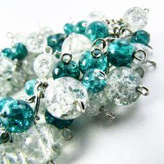 Turquoise Beadbust Bracelet by BranchingHope on Etsy