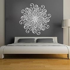 Mandala Wall Stickers Decals Indian Pattern Yoga Oum Om Sign Decal Vinyl Home Decor Art Murals Bedroom Studio Window Ah84