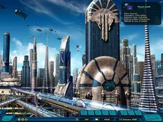 Fully self contained, themed city of the future!