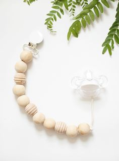 DIY Wood Bead Pacifier Clip @themerrythought
