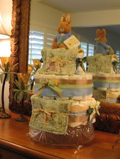 Peter Rabbit Diaper Cake