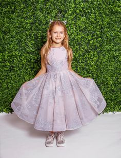 0c1e79c2970 Style 5821 Charlie La Petite by Hayley Paige flower girl dress - Dusty Rose  floral caviar mini-ball gown