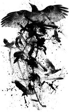 Graphisme hors commande Raven More commande graphism graphisme hors Raven is part of Crow tattoo - Body Art Tattoos, Hand Tattoos, Sleeve Tattoos, Cool Tattoos, Tattoo Ink, Arm Tattoo, Tattoo Crane, Street Art Banksy, Raven Art
