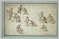 Anonyme florentin, 7 études de Madeleines