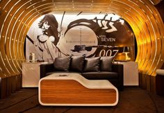 007 themed room in Paris, France #Europe #mural #art #hotel
