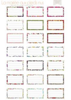 1000 images about papeterie on pinterest mariage - Etiquette prenom a imprimer ...