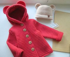 Diy Crafts - Baby,Cardigan-VK is the largest European social network with more than 100 million active users. Our goal is to keep old friends, ex-clas Baby Girl Sweaters, Knitted Baby Clothes, Crochet Clothes, Baby Cardigan, Baby Pullover, Crochet Baby Poncho, Baby Coat, Kids Coats, Crochet For Kids