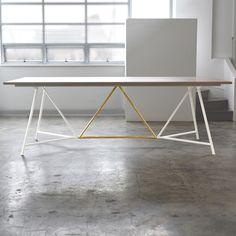 TUCKBOX truss big bench-table-brass-powdercoat frame 01.JPG