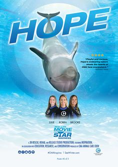 Our next poster in the Real-Life Movie Star Madness is out! Receive a FREE Hope themed movie poster when you visit Clearwater Marine Aquarium!