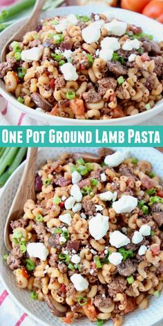 Ground lamb recipes are a delicious way to mix up weeknight dinners, like in this easy Mediterranean Ground Lamb Pasta dish, made in one pot in under an hour! Spaghetti Recipes, Pasta Recipes, Mince Recipes, Cake Recipes, Ground Lamb Recipes, Lamb Pasta, Perfect Pasta Recipe, Vegetarian Recipes, Healthy Recipes