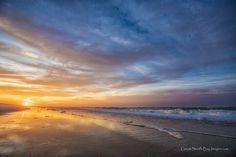 Sunset over long island beach
