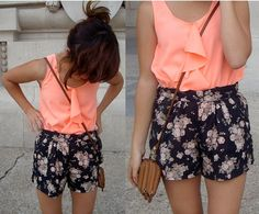 floral shorts. want to try for spring/summer