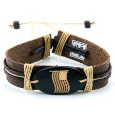 Leather Bracelet with Flag JewelVolt. $4.50
