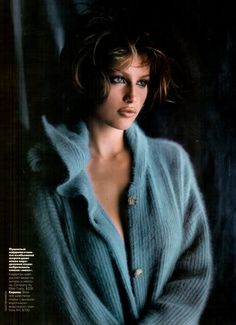 """Heat Radiation"", Elle Russia, January 1998Photographer: Gilles BensimonModel: Laetitia Casta"