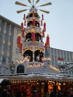 Christmas Market at Saarbrucken Germany - I just love German Christmas traditions, decor, etc.