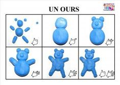 ours-pate-a-modeler Petite Section, Motor Activities, Activities For Kids, Clay Animation, Kids Clay, How To Make Clay, Bear Theme, Plasticine, Nursery School