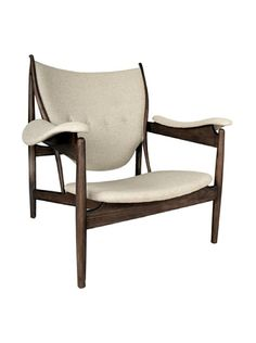 www.myhabit.com  Made of American Ash wood stained in walnut color, it contrasts the soft fabric; comfortable and stylish this chair make a statement and be one of the favorite seats in the house