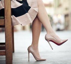 Nude heels (Diane Gottsman)...i <3 nude heels. they are always classy and they elongate your legs. these are perfect. Must find some!