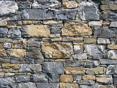 An intricate stone wall