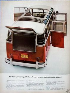 Old VW Bus Advertising. (This is the kind of vw bus I want to own! Volkswagen Transporter, Transporteur Volkswagen, Transporter T3, Bus Camper, Volkswagen Bus, Vw T1, Volkswagen Germany, Carros Vw, Combi T1