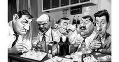 """Et oui, les """"Tontons"""", la fameuse scène (cène ?) de la cuisine, vu et revue... J'ai craqué moi aussi. Mais quand on est caricaturiste, ..."""