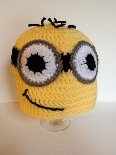 Crochet Minion Inspired Hat for Kids Ages 16 by OohLaLaDesignsShop, $25.00