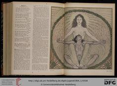 Fidus - Satana. Facsimile Jugend: Münchner illustrierte Wochenschrift für Kunst und Leben — 9.1904, Band 1 (Nr. 1-26)