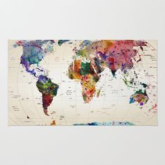 Buy Area & Throw Rugs with design featuring map by mark ashkenazi and adorn your home with both style and comfort. Available in three sizes (2' x 3', 3' x 5', 4' x 6').